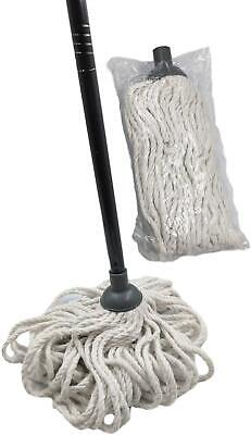 £9.99 • Buy Cotton Floor Mop With Handle Replacement Head Heavy Duty Absorbent Home Cleaning
