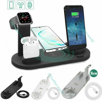 AU19.99 • Buy 3in1 Qi Wireless Charger Fast Charging Dock Stand For Airpods Apple Watch IPhone