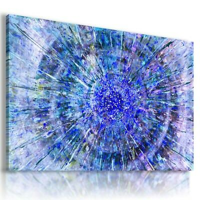£25.99 • Buy Painting Blue Abstract Sunshine Print Canvas Wall Art Picture Ab100 Mataga