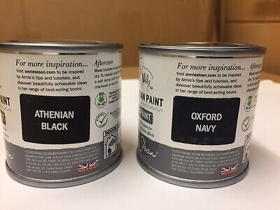 £22 • Buy Pair Of Annie Sloan Chalk Graphite Paint 120ml -Oxford Navy And Athernian Black