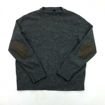 $28.98 • Buy J Crew Sweater Mens Large Gray Wool Blend Long Sleeve Crew Neck Pullover