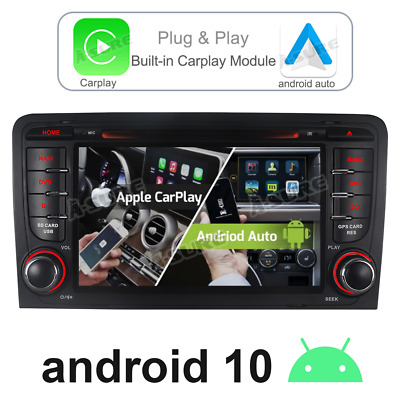 £262.90 • Buy Carplay Android Auto Car Stereo Sat Nav GPS Wifi DVD For AUDI A3 S3 RS3 RNSE-PU