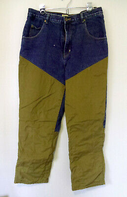 $17.95 • Buy Satfbak Mens Flannel Lined Jeans Pants For Hunting Heavy Duty Work 36x32