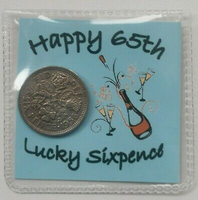 £2.99 • Buy Happy 65th Birthday Sixpence Gift *1956 Coin* - 1st Class P&p Included
