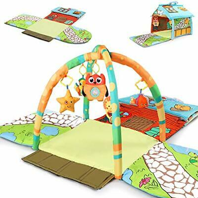 £27.82 • Buy Tiny Wonders Baby Activity Gym Mat Infant Indoor Playmat W/Hanging Rattle Toy...