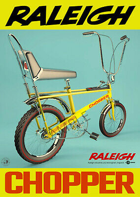£3.99 • Buy VINTAGE POSTER Raleigh Chopper Bicycle Old Advert Cycling Bike ART PRINT A3 A4