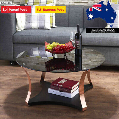 AU195.95 • Buy Luxury Finishing Round Tempered Glass Coffee Table 18kg Furniture Made In TAIWAN