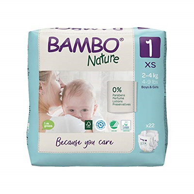 £6.83 • Buy Bambo Nature Premium Eco Nappies, New Born Size 1 4-9lb/2-4kg Pack Of 22