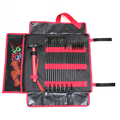 AU19.67 • Buy Heavy Duty Camping Tent Nail Storage Bag For Stakes Pegs Pouch Holder Case L
