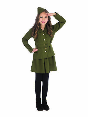 £15.29 • Buy Official Forum Girls Small WWII Soldier Girl Children's Costumes Army
