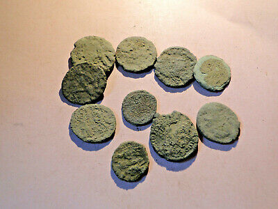 £12.50 • Buy Ten Mixed Roman Bronze Coins For Cleaning And Identification