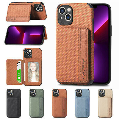 AU12.85 • Buy For IPhone 12 Pro Max 11 XS XR 8 7 Plus X Magnetic Flip Card Slot TPU Case Cover