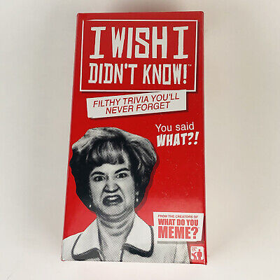 AU32.61 • Buy I Wish I Didn't Know Filthy Trivia Adult Party Game New What Do You Meme