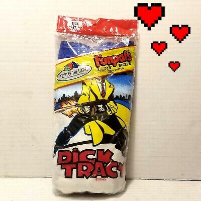 $ CDN100.50 • Buy 🔥vtgNEW 3PACK 1990 Dick Tracy Fruit Of The Loom Funpals Boys Briefs Made InUSA