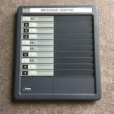 £38 • Buy DRAKES 10-name Message Centre Board In / Out Staff Attendance Muster Fire Drill