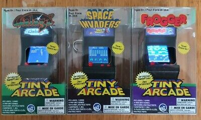 £55 • Buy Tiny Arcade GALAGA/FROGGER/SPACE INVADERS Miniature Playable Vintage Video Games