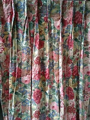 £120 • Buy Sanderson Rose & Peony Lined Curtains [John Lewis] Pair-pleated W35.5  X D87.75