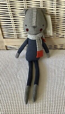 £14.85 • Buy MAMAS AND PAPAS Miles The Squirrel Soft Toy BNWT Blue Grey Skinny Legs