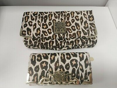 £19.95 • Buy Biba Leopard Pony Clutch Bag And Large Matching Purse