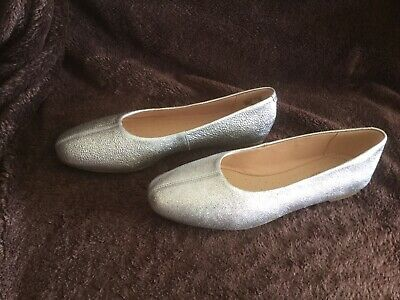 £24.99 • Buy New Collection By Clarks Silver Leather Flat Shoes Size 5 D Wedding Party
