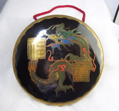 £39.99 • Buy Oriental Japanese Brass Table Dinner Gong With Hand Painted Dragon