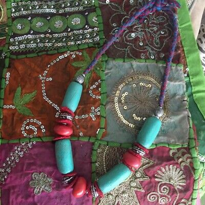 £12 • Buy Boho Ethnic Chunky Beads Necklace Tribal Indie Turquoise Red