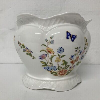 £15.95 • Buy Aynsley Cottage Garden Bone China Large White Floral Planter Plant Pot Cover