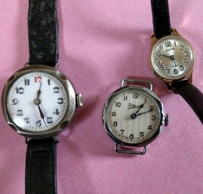 £19.99 • Buy 3 X Vintage Watches For Spares Or Repair. 2 Trench, 1 Sekonda..1 Trench Works.