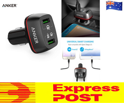 AU30.75 • Buy Anker 42W SUPER FAST QC 3.0 Car Charger PowerDrive+ 2 USB Quick Charge 2-USB