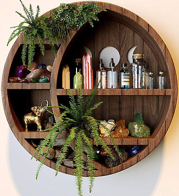 $62.99 • Buy Mydecorlife Crescent Moon Shelf For Crystals | Moon Phase Wall Hanging Decor For