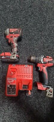 £115 • Buy Milwaukee M18 Cblpd 18v Drill With Impact Driver