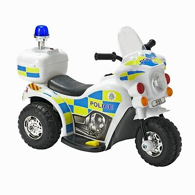£49.95 • Buy Chad Valley 6V Ride On Police Bike With Sound Effects Forward & Reverse Gears