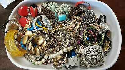 $ CDN32.73 • Buy Costume Jewelry Lot Vintage To Now 12lbs + Tangled Mess