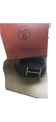 £508.31 • Buy Hermès Mens Belt Authentic Gold Buckle Included