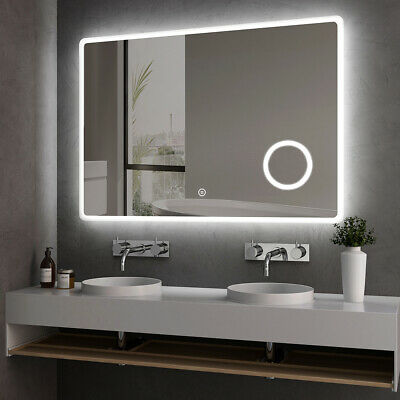 £85.99 • Buy Bathroom LED Mirror Light With Shaver Socket Illuminated Heated Magnifier Touch