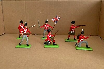 £21 • Buy Britains Deetail Napoleonic Waterloo British Infantry Full Set Of 6 Soldiers