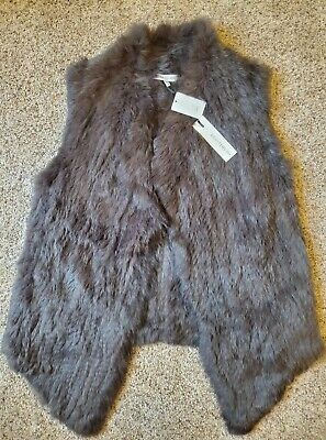 £108.15 • Buy NWT HEARTLOOM RABBIT Fur Michi Vest In Smoke SZ Medium OPEN FRONT $332  SOLD OUT