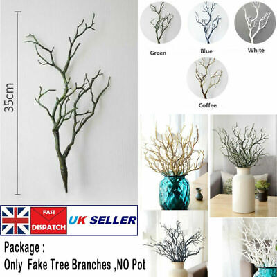 £4.49 • Buy 35cm Artificial Dried Tree Branch Twigs Plant Craft For Wedding Party Home Decor