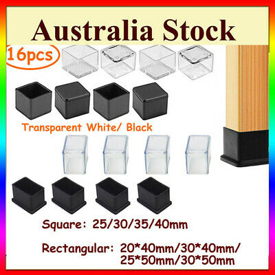 AU15.89 • Buy Square Rectangle Silicone Chair Leg Caps Table Cover Feet Pads Floor ProtectorAU