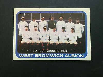 £4.42 • Buy A & Bc Gum Football Cards 1968 Yellow Backs Unmarked Checklist Series 1 WBA