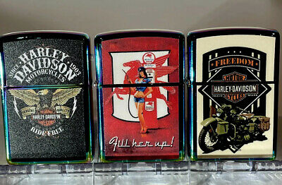 AU26.95 • Buy Assorted Designs 3 Numbers Windproof Oil Lighters  Good With Zippo Fluid Collect