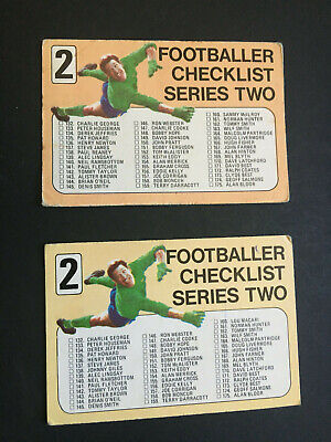 £11.50 • Buy A & Bc Gum Blue Back Football Cards Series 2 Both Versions Of Checklist Unmarked