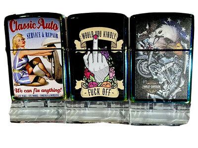AU26.95 • Buy Designer Windproof Oil Lighters Good With Zippo Fluid Collectible 3 Numbers Sale