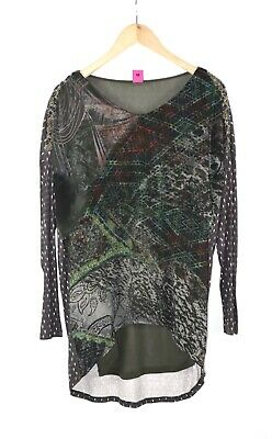 AU39.93 • Buy Save The Queen Women Tunic Dress Long Sleeve Khaki Made In Italy Size M