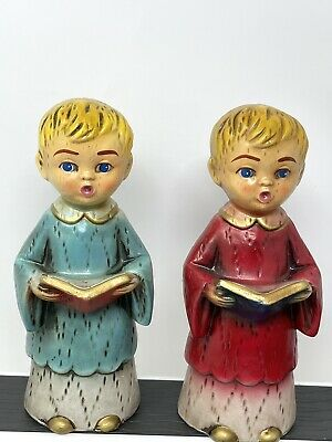 $ CDN27.69 • Buy Vintage Christmas Carolers Made In Japan Hand Painted 7 Inches Tall Boy Girl