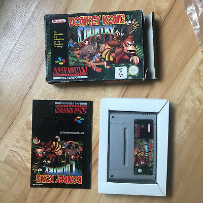 AU120 • Buy Donkey Kong Country (Nintendo SNES) WITH MANUAL!