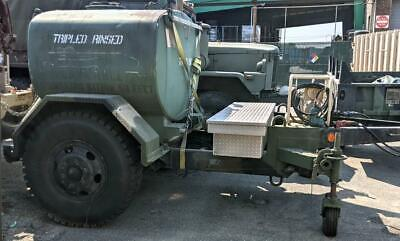 $4250 • Buy Military 600 Gallon Fuel Pod Tank Trailer With 24 Volt Electric Dispensing Pump