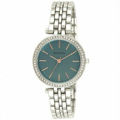 £20.99 • Buy Henley Women's Fashion Dress Rose Highlighted Diamante Watch H07309.6