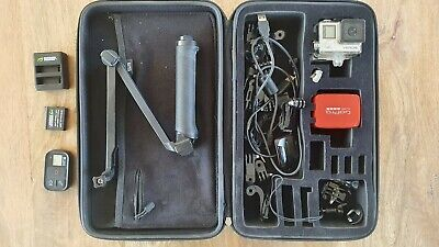 AU234 • Buy GoPro Hero 4 + 3 Way Tripod + Smart Remote + Spare Battery & Charger + Case