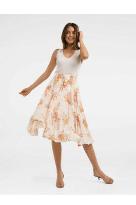 AU18 • Buy Forever New Pleated Floral Skirt Size 10